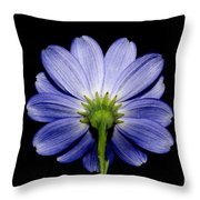 Backside Of A Blue Flower Throw Pillow