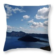 Backside Of Crater Lake Throw Pillow