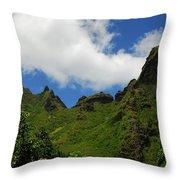 Backside Of The Napali Coast Throw Pillow