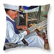 Backstrap Loom - Ecuador Throw Pillow