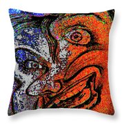 Backward Face Throw Pillow