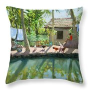 Backwaters India  Throw Pillow