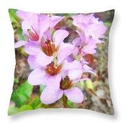 Backyard Blooms Throw Pillow
