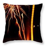 Backyard Fireworks 2012 1 Throw Pillow