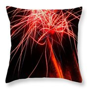 Backyard Fireworks 2012 4 Throw Pillow