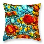 Bacteria 5 Throw Pillow
