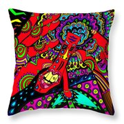 Bad Day - My Brain Is Sore Throw Pillow