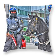 Badges And Horses Throw Pillow