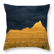 Badlands Early Light Throw Pillow