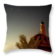 Baghdad Mosque In The Night Throw Pillow