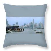 Bahia De Panama Throw Pillow