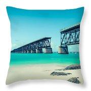 Bahia Hondas Railroad Bridge  Throw Pillow