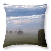 Bails In Fog Throw Pillow