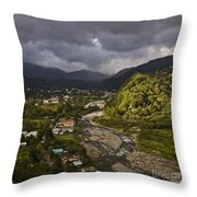 Bajo Boquete With Rio Caldera Throw Pillow