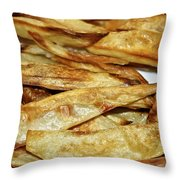 Baked Potato Fries Throw Pillow