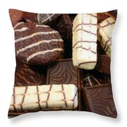 Baker - Who Wants Cookies Throw Pillow by Mike Savad