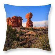 Balance Rock I Throw Pillow