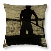 Working Hard For A Living Throw Pillow