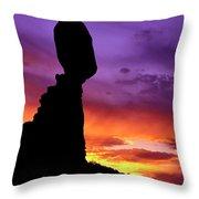 Balanced Rock Sunset Arches Nat.park Throw Pillow