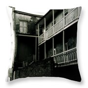 Balcony- French Quarter- New Orleans Throw Pillow