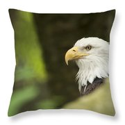 Baldy Throw Pillow