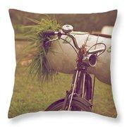 Bali Bike Throw Pillow