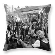 Bali Festival Throw Pillow