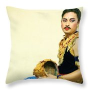 Balinese Dancer Behind The Scene   Throw Pillow