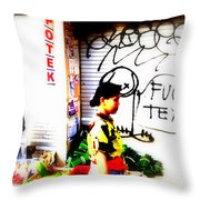 Balinese Tagging Texas Throw Pillow