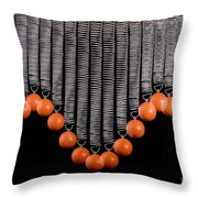 Ball Bouncing On A Spring Throw Pillow