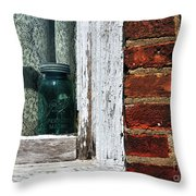 Ball Jar And Lace Throw Pillow