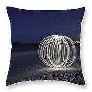 Ball Of Light Marco Island Beach Throw Pillow