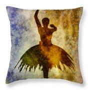 Ballerina 1 With Border Throw Pillow