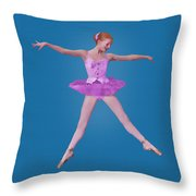 Ballerina In Pink Throw Pillow