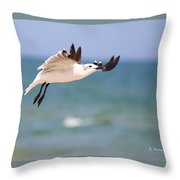 Ballerina Performing A Grand Jete Throw Pillow