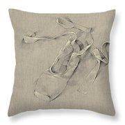 Ballerina's Slippers Throw Pillow
