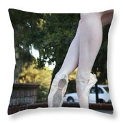Ballet Legs Throw Pillow