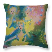Ballet Of The Blooms Throw Pillow
