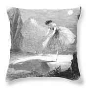 Ballet: Ondine, 1843 Throw Pillow