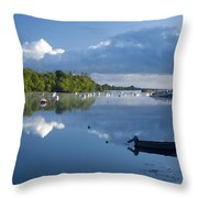 Ballina, Co Mayo, Ireland Morning Throw Pillow