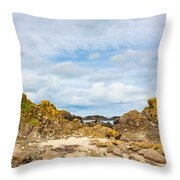 Ballintoy Bay Basalt Rock Throw Pillow