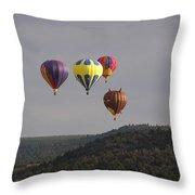 Balloon Cluster Throw Pillow