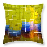 Balloon Cubed Throw Pillow
