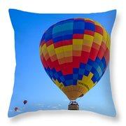 Balloon Fiesta Throw Pillow