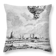 Balloon Flight, 1783 Throw Pillow