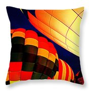 Balloon Glow 1 Throw Pillow