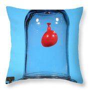 Balloon In A Vacuum, 1 Of 6 Throw Pillow