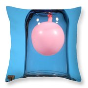 Balloon In A Vacuum, 2 Of 4 Throw Pillow