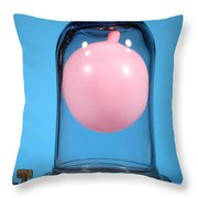 Balloon In A Vacuum, 3 Of 4 Throw Pillow