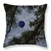 Balloon In The Pines Throw Pillow